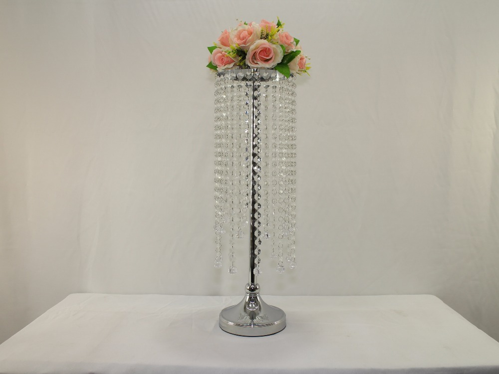 26 3 h wedding acrylic crystal table flower stand for Acrylic decoration