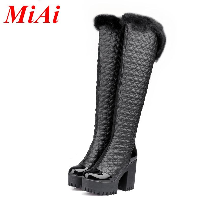 2015 new round zipper hair sexy women high-heeled boots boots winter boots black white shoes street date 34-40 code<br><br>Aliexpress