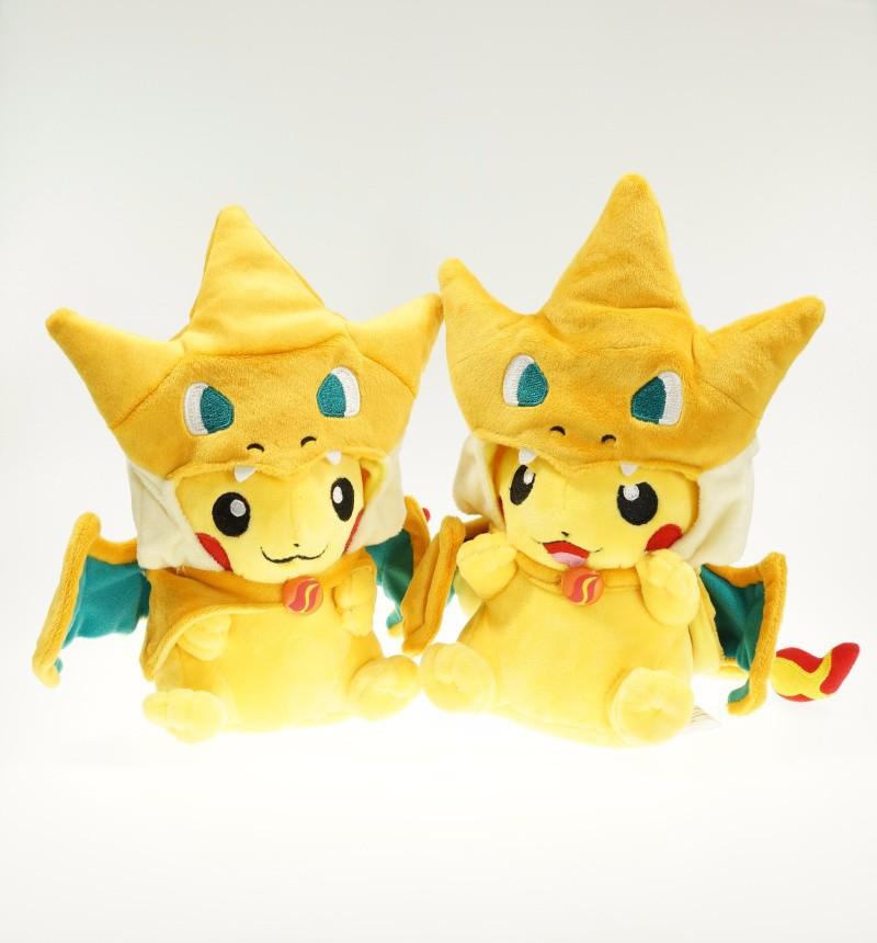 Гаджет  2015 New Pokemon Pikachu Cosplay Charmander Plush Toys Cute Pokemon Plush Stuffed Animals Soft dolls Fashion Cartoon Plush Toys None Игрушки и Хобби