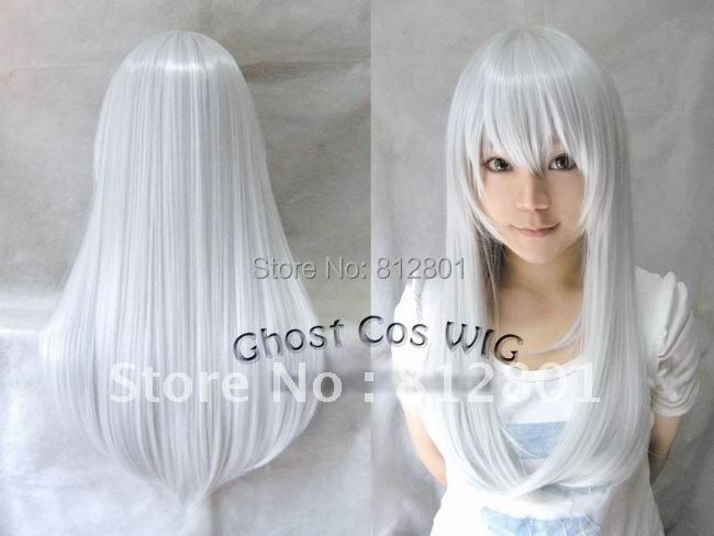 Silver white 60CM 100% Heat-resistant synthetic fiber cosplaywig<br><br>Aliexpress