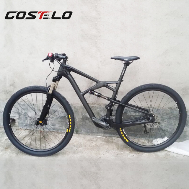 COS098 costelo 29er suspension bike ,full carbon MTB bike suspension MTB frame 29er mountain bike frame ,carbon frameset