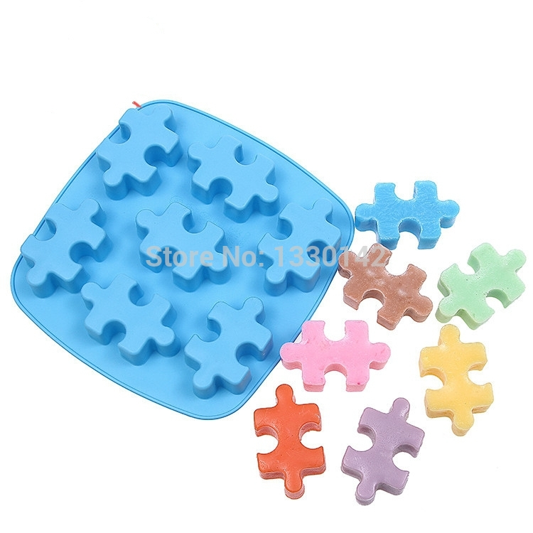 Candied Cake Decoration Crossword : Silicone Jigsaw Puzzle Sharped Candy Candle Mold Cake ...