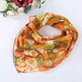 Chiffon Square Women Scarf Bohemian Multicolor Silk Ladies Scarves Fashion Vintage Foulard Women
