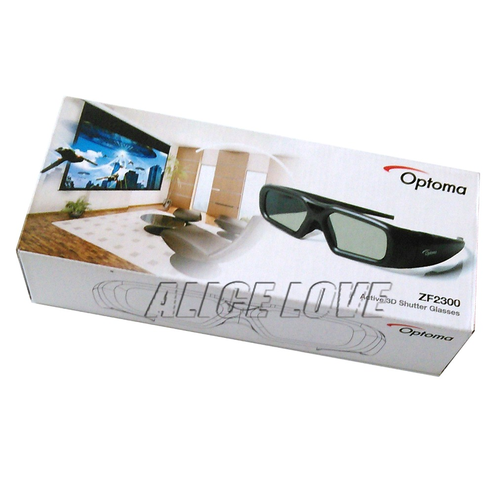 3pcs/set Free shipping Original ZF2300 Active RF 3D Glasses For Optoma RF Projector with Emitter BC300 Included(China (Mainland))