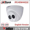 DaHua 4MP IP Camera IPC HDW4421C Day Night infrared CCTV POE Camera Support IP67 Waterproof 1080P