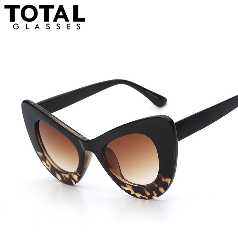 2016 New Big Frame Sunglasses Women Cat Eye Glasses ...