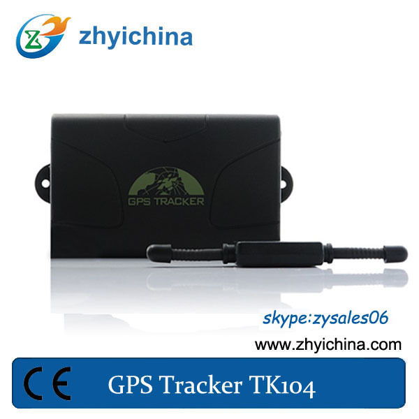 Car GPS tracker TK104 100days standby time Quad band Web/ PC GPS tracking system Google map support 12 kinds language(China (Mainland))