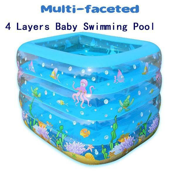 2015 New Arrival Baby Swimming Pool Inflatable Large Plastic Swimming Pool Inflatable Baby Bathtub Children's Beach Pools(China (Mainland))