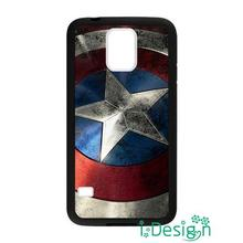 Fit for Samsung Galaxy mini S3/4/5/6/7 edge plus+ Note2/3/4/5 back skins cellphone case cover Captain America Shield Avengers