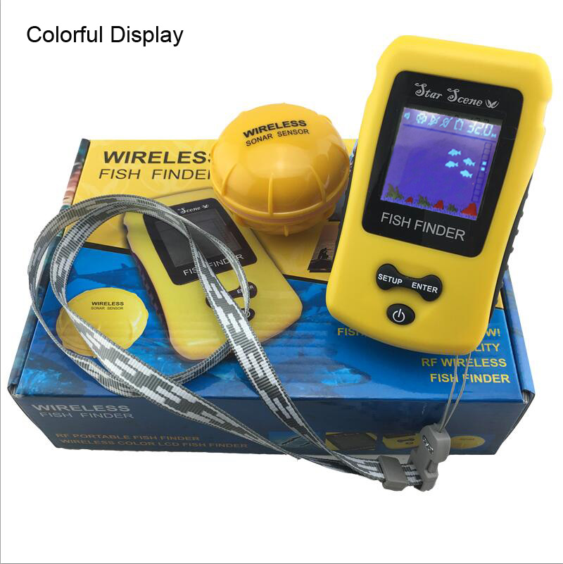 Colorful lcd display wireless fish finder portable sonar for Ice fish finder