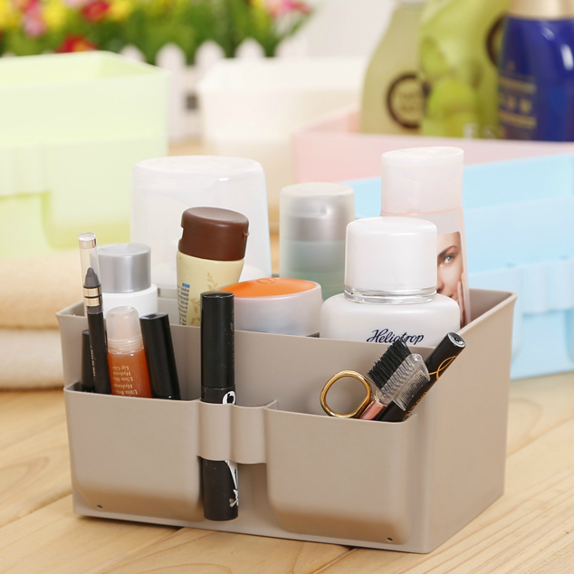 Cosmetic storage box Desktop storage box waterproof storage box can clean washable glove box dormitory supplies(China (Mainland))