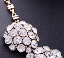 2015 New Fashion XG116 High Quality Ultra luxury Necklaces Pendants Pure Crystal Statement Necklace Crystal Flower