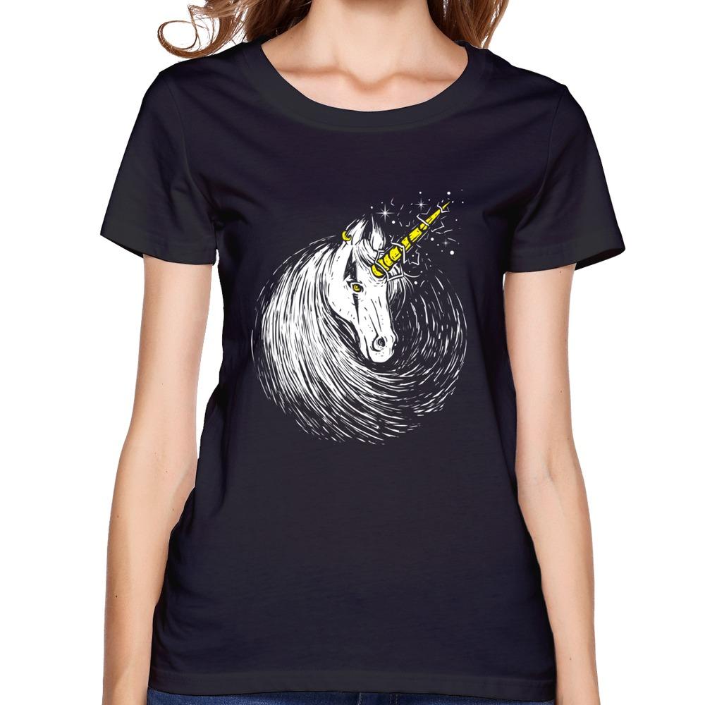 Gildan T Shirt Women Scar Unicorn Make Your Own Short