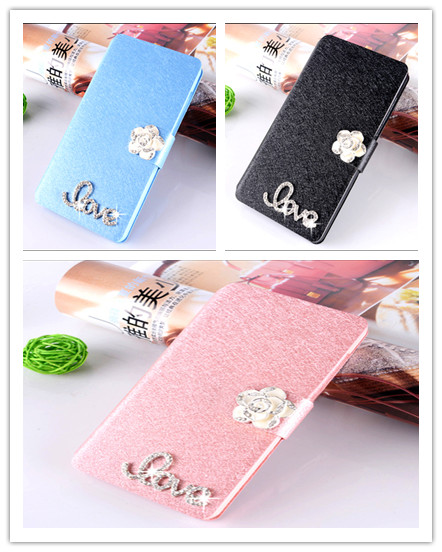 Lots style diamond For Samsung Galaxy Core II 2 Dual SIM SM-G355 G355H phone case luxury flip cover with three kinds of diamond(China (Mainland))