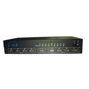 Wholesale, Hot Sale! 1X8 HDMI Splitter(Distributor) box High definition TV splitter repeater(China (Mainland))