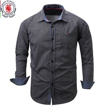 Buy New Arrival Brand Men's Shirt Striped Long Sleeve Plaid Shirts Mens Dress Shirt Brand Casual Denim Style Printing Shirts 108 for $13.99 in AliExpress store