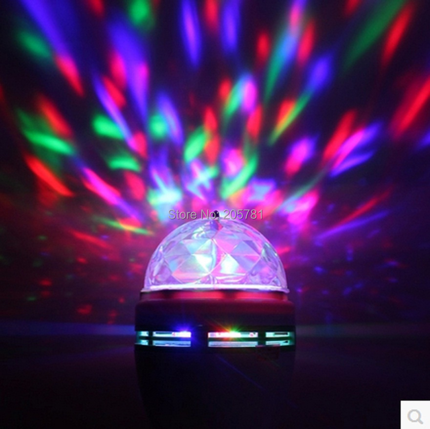 10E27 3W 85V-260V Colorful Spot RGB Rotating Stage Crystal Ball 3 LED Light Lamp Disco DJ Party - China Online Store store