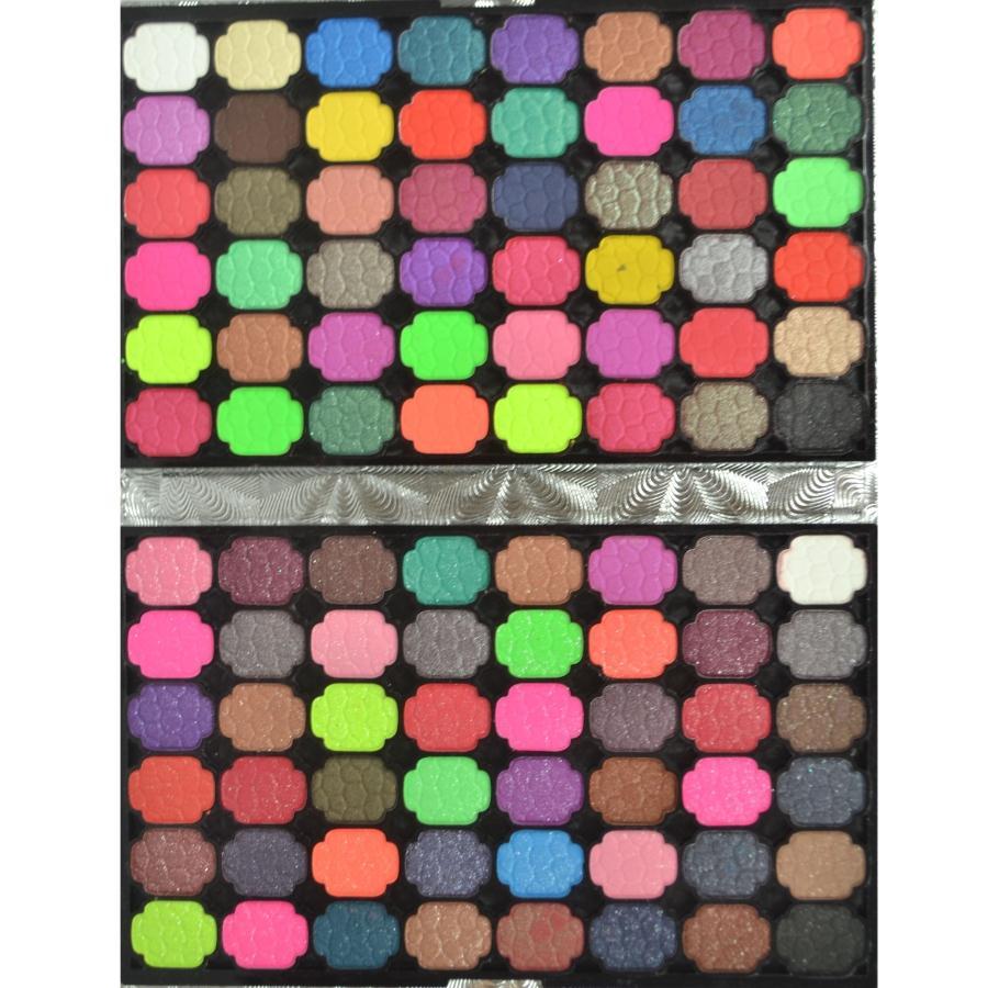 new brand 96 color fashion silver wallet eye shadow plate,pearl eyeshadow+matte eyeshadow plate(China (Mainland))