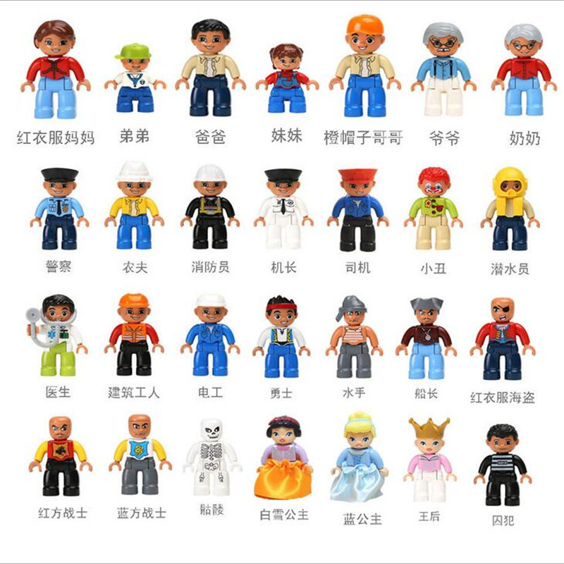Duploes Minifigures Building Blocks 10pcs/lot Home Police Princess Pirate Characters Anime Figures Toys Compatible with Lego<br><br>Aliexpress