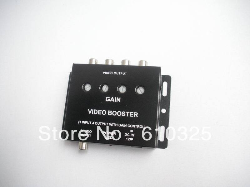 Hot sale-4 ways Video distributer,video spliter,car video distribution amplifier for wholesale/lot free shipping!(China (Mainland))