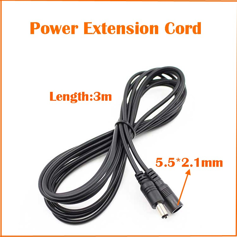 Power Supply Cable Extension Cord Dc12v For Cctv Ip Camera Pure Copper Material 1-3-5-10meters Length Optional Freeshipping Hot