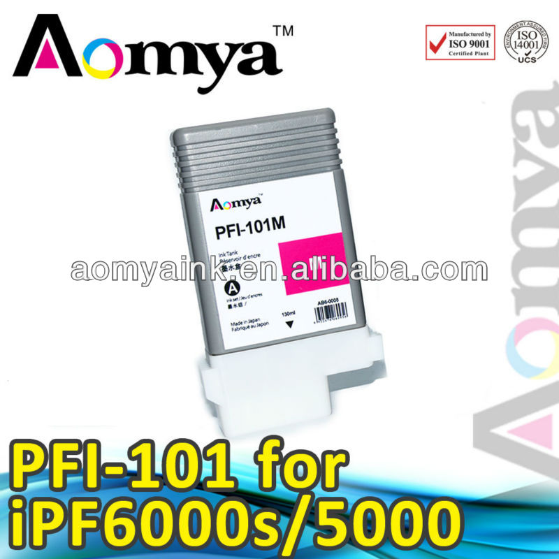 Wide foramt ink cartridge PFI-101 for Canon IPF 5000, 130ml,Pigment ink(China (Mainland))