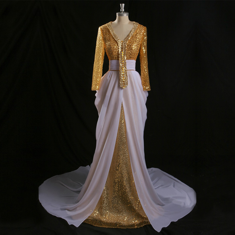 Buy 2014 autumn winter new sequin dress for White kaftan wedding dress
