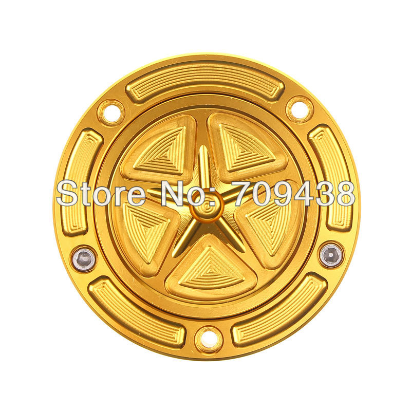 Five-Pointed Star Fuel Gas Tank Cover Cap For DUCATI 748 851 888 916 996 998 900SS ST2 ST4 Billet CNC Keyless GOLD<br>