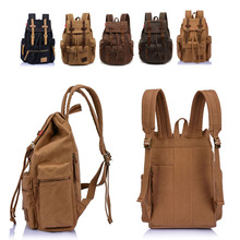 2014 New Casual Canvas Men Backpack Retro Vintage Male Students School Bags Outdoor Man Shoulder Bags #HW03017