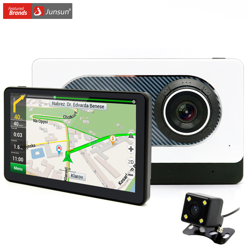 "Junsun 7"" Android Car Rear view GPS Navigation with DVR Camera Recorder Bluetooth FM WIFI Sat nav Navigator Navitel/Europe map(China (Mainland))"