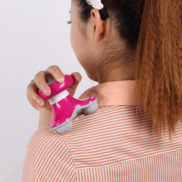 Mini Wave Vibrating Back Massager USB Battery Electric Handled Full Body Massage FM88(China (Mainland))