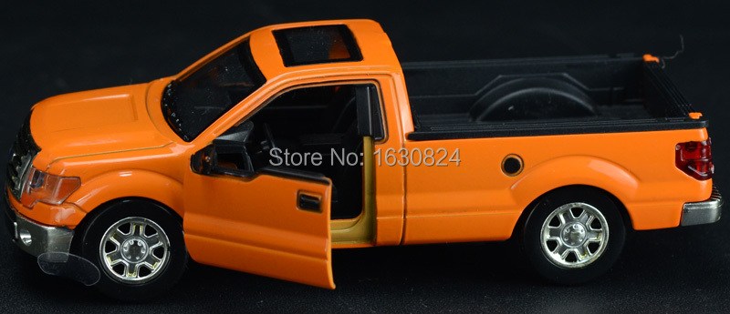 1:32 new Ford pickup truck mini model car child toys Good quality Classic toys Vintage model car Musical Flashing Pull Back cars(China (Mainland))