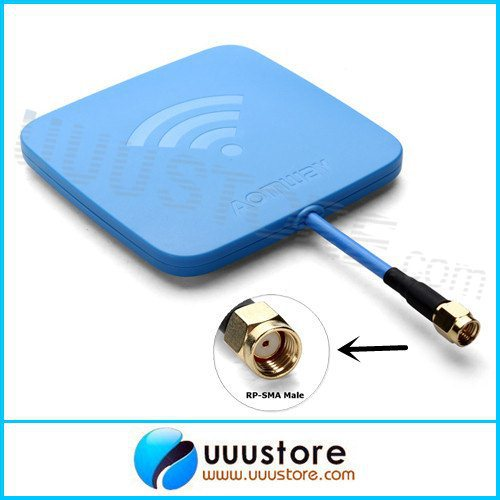 2014 New,Aomway 5.8GHz 14dBi High Gain Flat FPV Receiver blue Inner Hole RP-SMA Male Antenna Set for RC FPV Aerial Photo<br><br>Aliexpress