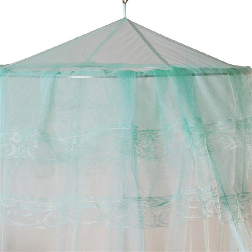 High Quality New Round Lace Curtain Dome Bed Canopy Netting Princess Mosquito Net(China (Mainland))