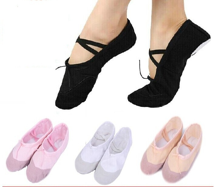 Size23~44 14.5~26cm children soft sole girls ballet shoes Women Ballet Dance Shoes kids adult ladies - Fashion Store1008 store