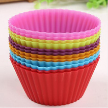Soft Round 12pcs/lot Silicone Muffin Cake Mould Fondant Decoration Chocolate Mold Cupcake Liner Baking Silicone Cup Mold(China (Mainland))
