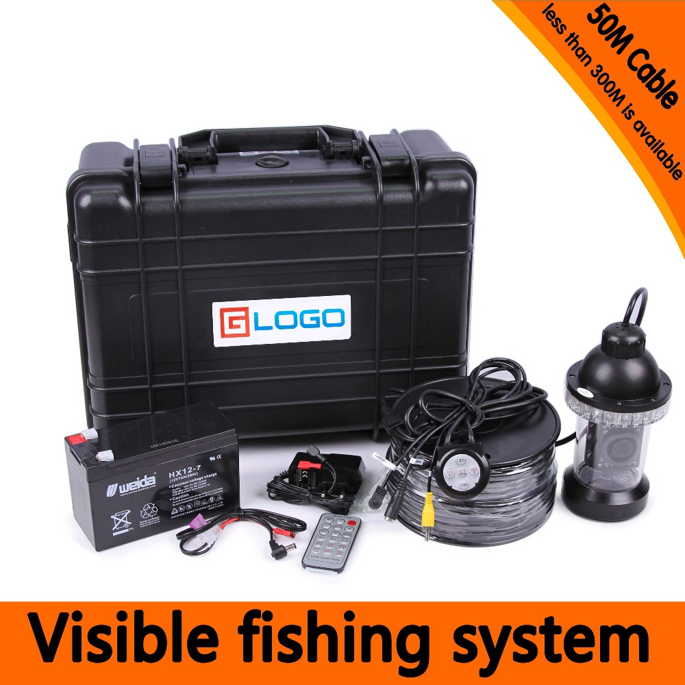 (1 Set) 50M Cable Inspection camera HD 7inch Screen 1100TVL Panning Underwater Fishing Camera System Fish finder(China (Mainland))