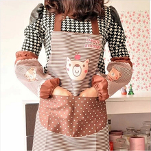 Hot Sale Waterproof  Women apron Animation Adult Women Lady's Kitchen Cooking Pinafores Aprons Cartoon Apron(China (Mainland))
