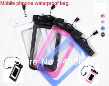 Free shipping New&Universal Mobile Phone Waterproof Bag case cover waterproof case skin For iPhone,Samsung,etc cellphone case