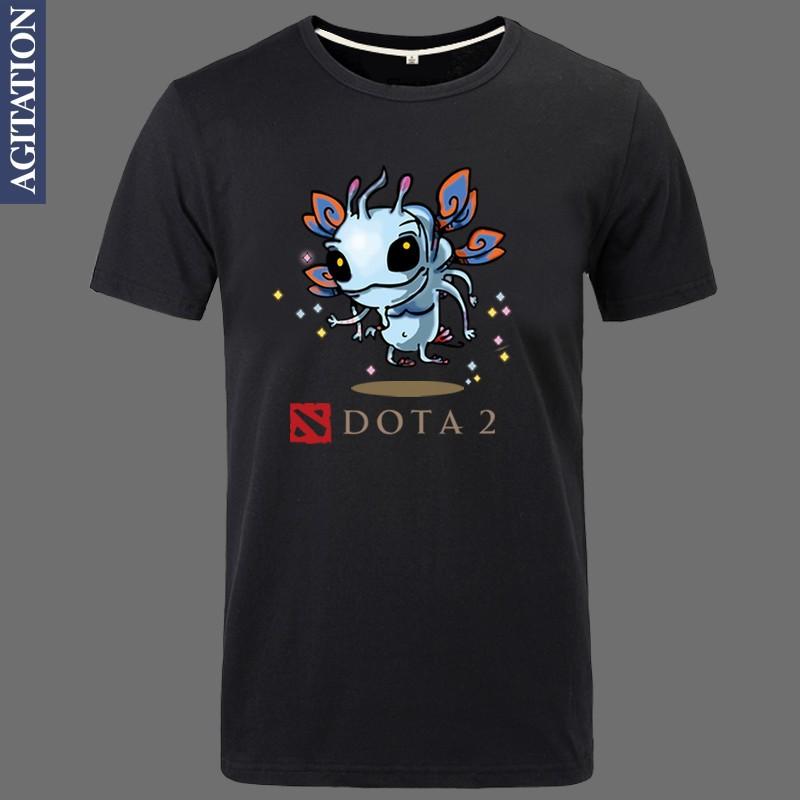 Puck Faerie Dragon Print Original Design Dota2 Dota 2 Cotton FASHION STYLE Casual T-shirt T shirt(China (Mainland))