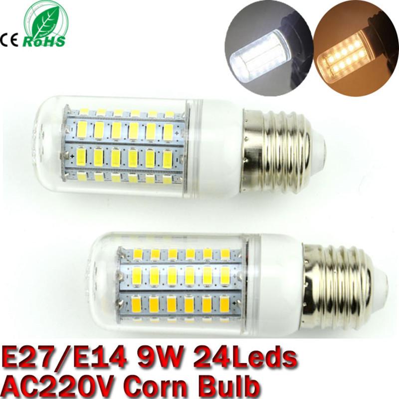 Гаджет  9W E27 E14 LED Light lamp AC 220 V SMD 5730 Led corn bulb lighting projector lamp 24Led E27 Led Bulbs Free Shipping None Свет и освещение