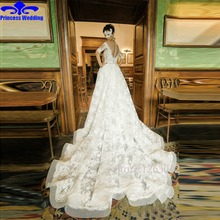 Buy Lace Wedding Dress 2017 V-Neck Half Sleeve Button Sweep Train Applique Mermaid Bridal Gowns Dresses Vestido De Noiva Custom Made for $211.65 in AliExpress store