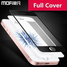 Buy MOFi iPhone 5s glass tempered full cover screen protector iPhone5 iPhone 5 glass protective black apple SE tempered film for $6.29 in AliExpress store