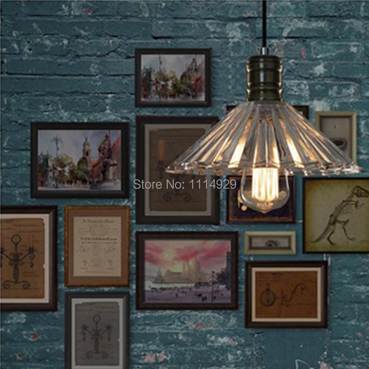 Loft American Country Retro Umbrella Pendant Lights Creative Arts Cafe-room/Restaurant/Bar Pendant Lamps Decoration Lighting