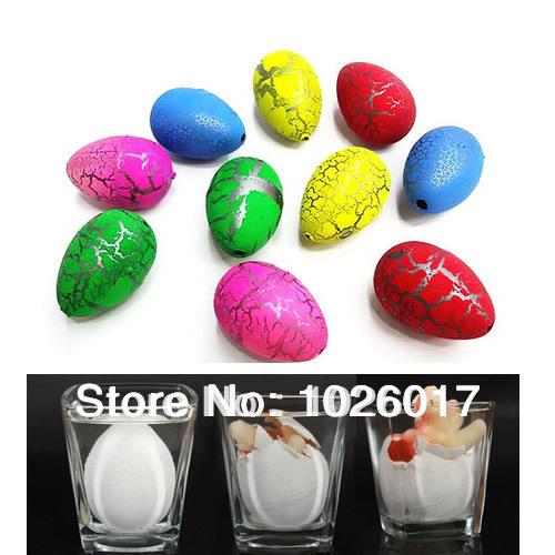 20Pcs small Cute Magic Growing Dino Egg Hatching Dinosaur Add Water Eggs Child Toy Gift(China (Mainland))