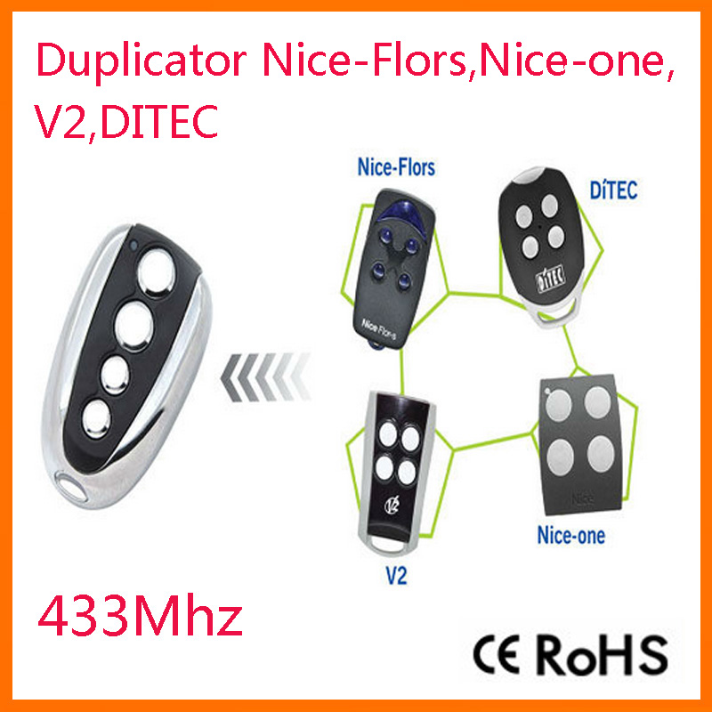 high quality rf duplicator nice flors nice one ditec v2 rolling code remote. Black Bedroom Furniture Sets. Home Design Ideas