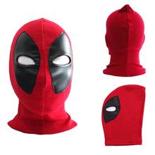 Halloween Deadpool mask Cosplay Costume Lycra Spandex Mask Red / Red Adult sizes Party supplies Deadpool knitted caps(China (Mainland))