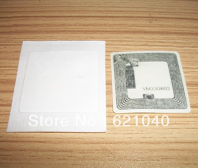 Wholesale - 100pcs/lot RFID NFC Label/Sticker/Tag 13.56MHZ ISO 14443A  S50/35*35MM White<br><br>Aliexpress