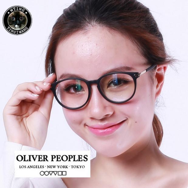 big round brand design trending style vintage glasses frame myopia eyeglasses decorations personalized eyewear oliver discount