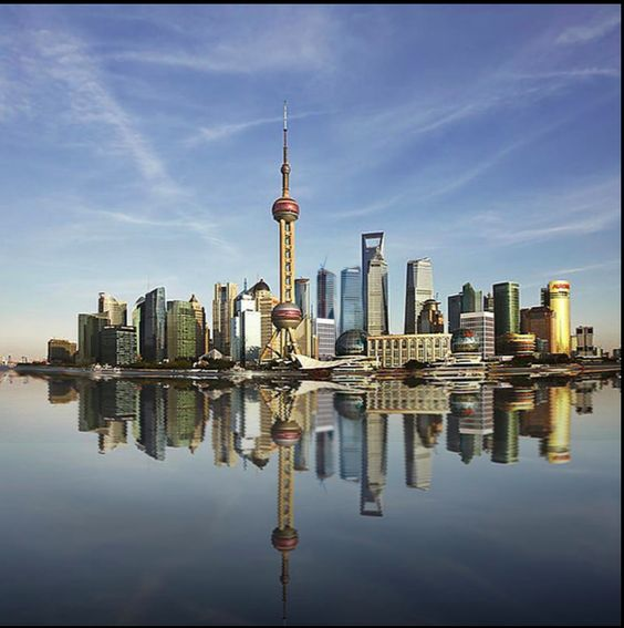 Shanghai China with its unmistakable skyline 1y Vintage Retro Decorative Wall Stickers Posters Bar Home Decor Gift(China (Mainland))
